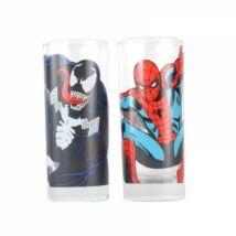 Marvel üvegpohár szett - Venom és Pókember