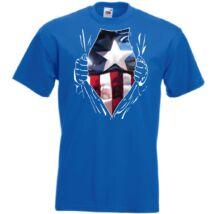 Captain America: Szakított ing - Férfi rövid ujjú póló - Több színben