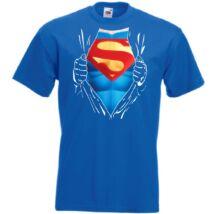 Superman: Szakított ing - Férfi rövid ujjú póló - Több színben