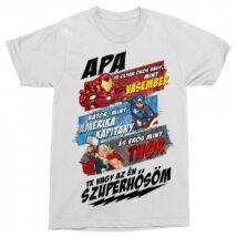 Apa Te vagy a szuperhősöm - Marvel karakterek férfi rövid ujjú póló - Több színben