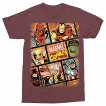 Marvel férfi rövid ujjú póló - Marvel Comics hősök - Több színben