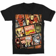 Marvel gyerek rövid ujjú póló - Marvel Comics hősök - Több színben