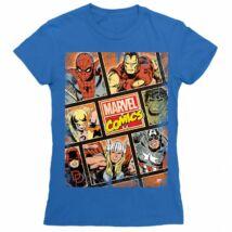 Marvel női rövid ujjú póló - Marvel Comics hősök - Több színben