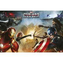 Amerika Kapitány: Polgárháború plakát - A csapat