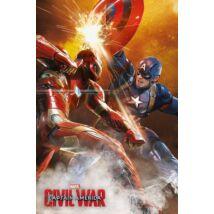 Amerika Kapitány: Polgárháború plakát - Az összecsapás