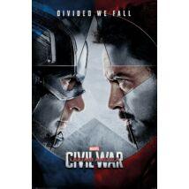 Amerika Kapitány: Polgárháború plakát - Szemtől szembe