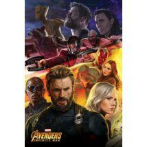 Bosszúállók: Végtelen háború plakát - Amerika Kapitány