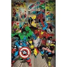 Marvel Comics plakát- Itt jönnek a karakterek