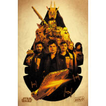 Solo: Egy Star Wars-történet plakát - Millennium Falcon montázs