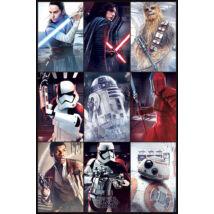 Star Wars: Az utolsó Jedik plakát - Karakterek