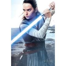 Star Wars: Az utolsó Jedik plakát - Rey