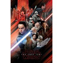 Star Wars: Az utolsó Jedik plakát - Vörös montázs
