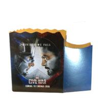 Amerika Kapitány: Polgárháború popcorn tasak pohártartóval