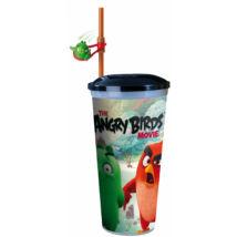 Angry Birds - A film pohár szívószállal, pörgethető malac figurával
