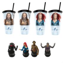 Aquaman pohár és topper szett popcorn tasakkal