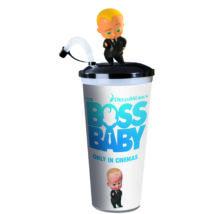 Bébi úr pohár, topper és popcorn tasak (fekete öltönyös Bébi úr)