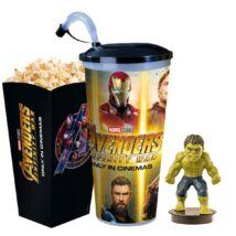 Bosszúállók: Végtelen háború pohár, Hulk topper és popcorn tasak - ELŐRENDELÉS