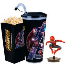 Bosszúállók: Végtelen háború pohár, Pókember topper és popcorn tasak (Sötét pohár) - ELŐRENDELÉS