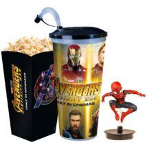 Bosszúállók: Végtelen háború pohár, Pókember topper és popcorn tasak - ELŐRENDELÉS