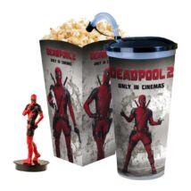 Deadpool 2 pohár, topper és popcorn tasak (álló Deadpool)