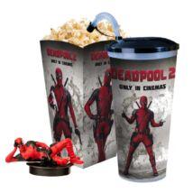 Deadpool 2 pohár, topper és popcorn tasak (fekvő Deadpool)