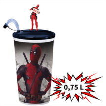 Deadpool 2 0,75 literes pohár és topper (Deadpool táblával)