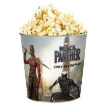 Fekete Párduc dombornyomott popcorn vödör