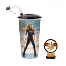 Marvel Kapitány pohár és Marvel Kapitány logó topper