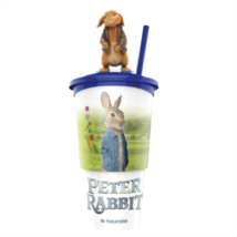 Nyúl Péter pohár, Benjamin topper és popcorn tasak (színes pohár)