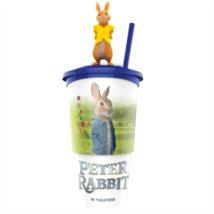 Nyúl Péter pohár, Mopsy topper és popcorn tasak (színes pohár)