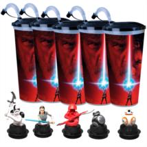 Star Wars: Az utolsó Jedik pohár és topper szett popcorn tasakokkal +ajándék persely