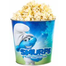 Hupikék törpikék: Az elveszett falu fém popcorn vödör