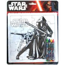 Star Wars - Kylo Ren és rohamosztagos színezhető puzzle szett