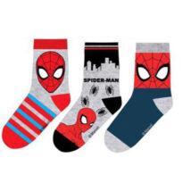 Pókember gyerek zokni szett (31-34 méret)