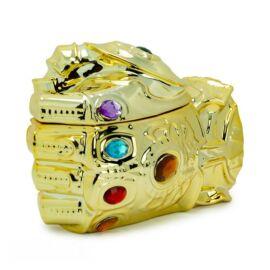 Bosszúállók Thanos ökle 3D bögre fedővel