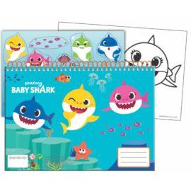 Baby Shark spirálos vázlatfüzet matricákkal A/4