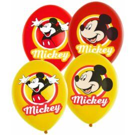 Disney Mickey egér léggömb, lufi 6 darabos csomag - Sárga, piros színben