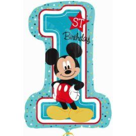 Mickey egér fólia lufi, 1-es szám - 71 cm-es