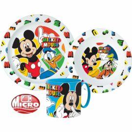 Mickey egér műanyag étkészlet
