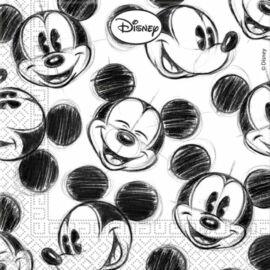 Mickey egér kétrétegű papírszalvéta - 25 db-os