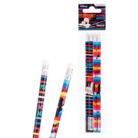 Minnie egér HB grafit ceruza szett radír véggel