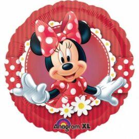 Disney Minnie egér fólia lufi 43 cm-es, fodros hatás