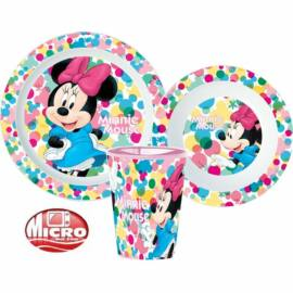 Minnie egér műanyag étkészlet