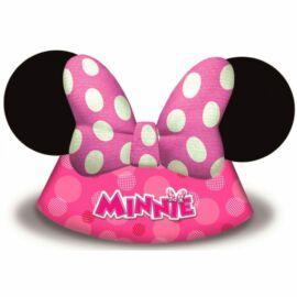 Minnie egér party kalap, csákó 6 db-os szett