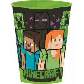 Minecraft műanyag pohár - 430 ml
