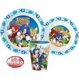 Sonic, a sündisznó műanyag étkészlet