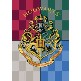 Harry Potter polár takaró, ágytakaró - Hogwarts logó