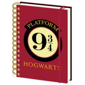 Harry Potter jegyzetfüzet A/5-ös - 9 és ¾ vágány
