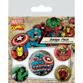 Amerika Kapitány kitűző szett - Marvel Retro
