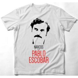 Narcos férfi rövid ujjú póló - Pablo Escobar Art